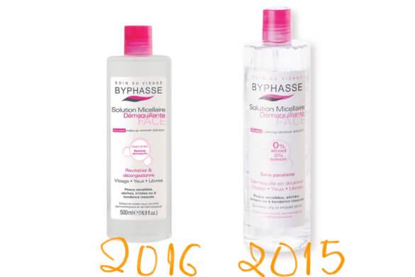 Tẩy trang Byphasse mẫu 2015 và 2016