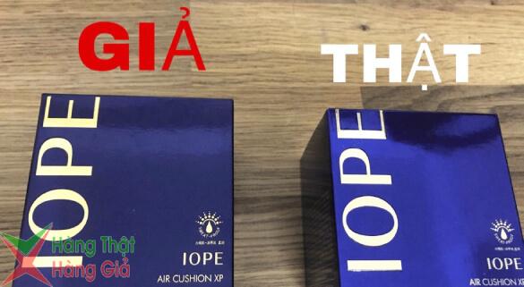 Vỏ hộp phấn nước Iope Auth và Fake