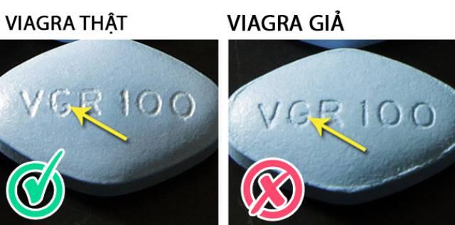 Đuôi chữ G Viagra thật giả